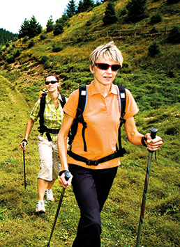 A photo of a group of women hiking